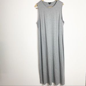 J.Jill Grey Sleeveless Maxi Dress XL